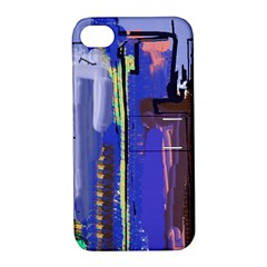 Abstract City Design Apple Iphone 4/4s Hardshell Case With Stand