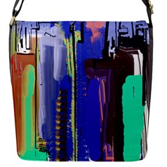 Abstract City Design Flap Messenger Bag (s)