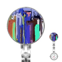 Abstract City Design Stainless Steel Nurses Watches