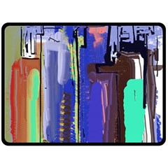 Abstract City Design Double Sided Fleece Blanket (Large)