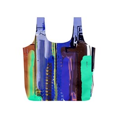 Abstract City Design Full Print Recycle Bags (S)