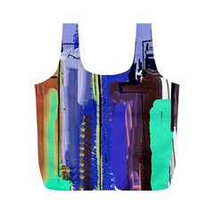 Abstract City Design Full Print Recycle Bags (m)