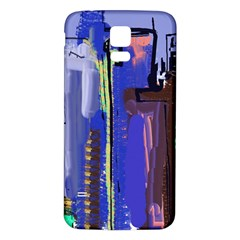 Abstract City Design Samsung Galaxy S5 Back Case (White)