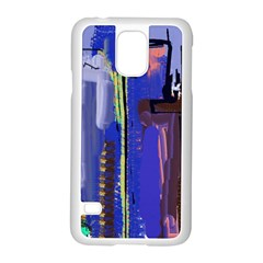Abstract City Design Samsung Galaxy S5 Case (white)