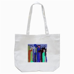 Abstract City Design Tote Bag (White)