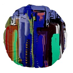 Abstract City Design Large 18  Premium Flano Round Cushions