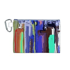 Abstract City Design Canvas Cosmetic Bag (m)