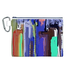 Abstract City Design Canvas Cosmetic Bag (L)
