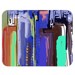 Abstract City Design Double Sided Flano Blanket (Medium)