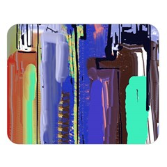 Abstract City Design Double Sided Flano Blanket (Large)