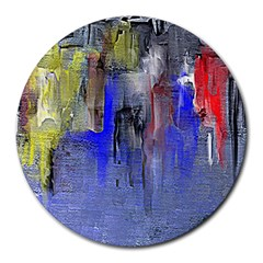 Hazy City Abstract Design Round Mousepads
