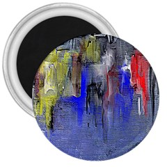 Hazy City Abstract Design 3  Magnets