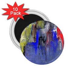 Hazy City Abstract Design 2 25  Magnets (10 Pack)
