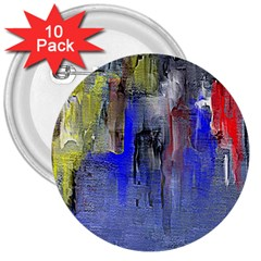 Hazy City Abstract Design 3  Buttons (10 Pack)