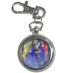 Hazy City Abstract Design Key Chain Watches