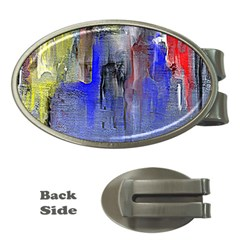 Hazy City Abstract Design Money Clips (Oval)