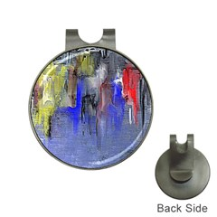 Hazy City Abstract Design Hat Clips with Golf Markers
