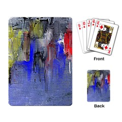 Hazy City Abstract Design Playing Card