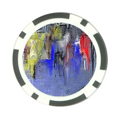 Hazy City Abstract Design Poker Chip Card Guards