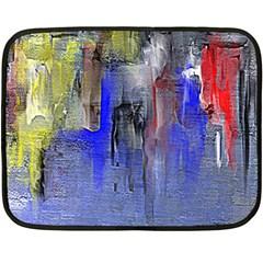 Hazy City Abstract Design Fleece Blanket (mini)