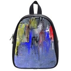 Hazy City Abstract Design School Bags (Small)