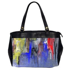 Hazy City Abstract Design Office Handbags (2 Sides)