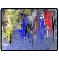 Hazy City Abstract Design Fleece Blanket (Large)