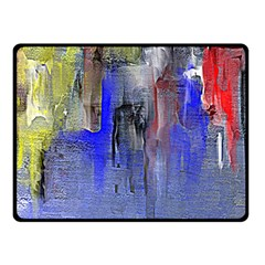 Hazy City Abstract Design Fleece Blanket (Small)