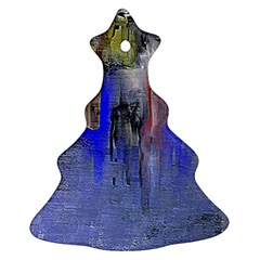 Hazy City Abstract Design Christmas Tree Ornament (2 Sides)