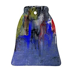 Hazy City Abstract Design Bell Ornament (2 Sides)