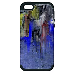 Hazy City Abstract Design Apple Iphone 5 Hardshell Case (pc+silicone)