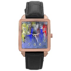Hazy City Abstract Design Rose Gold Watches