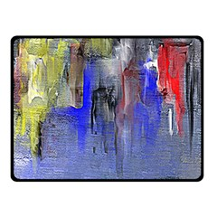 Hazy City Abstract Design Double Sided Fleece Blanket (Small)