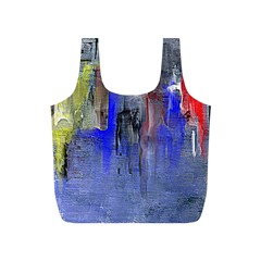 Hazy City Abstract Design Full Print Recycle Bags (S)