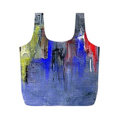 Hazy City Abstract Design Full Print Recycle Bags (M)