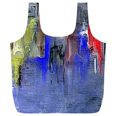 Hazy City Abstract Design Full Print Recycle Bags (l)