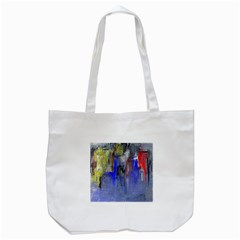 Hazy City Abstract Design Tote Bag (White)