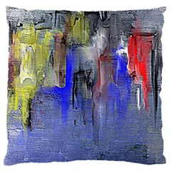 Hazy City Abstract Design Large Flano Cushion Cases (One Side)