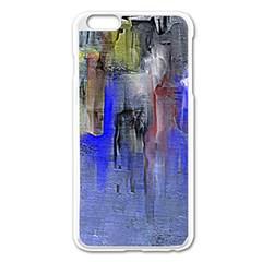 Hazy City Abstract Design Apple iPhone 6 Plus Enamel White Case