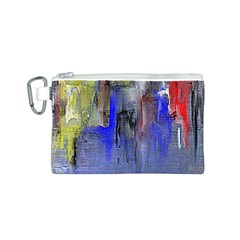 Hazy City Abstract Design Canvas Cosmetic Bag (s)