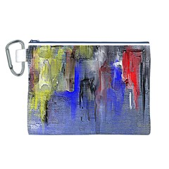Hazy City Abstract Design Canvas Cosmetic Bag (l)