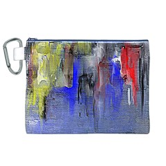 Hazy City Abstract Design Canvas Cosmetic Bag (XL)