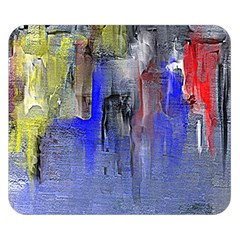 Hazy City Abstract Design Double Sided Flano Blanket (small)
