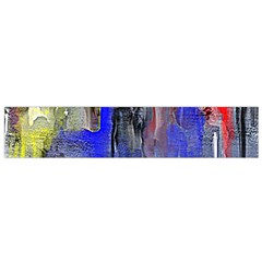 Hazy City Abstract Design Flano Scarf (small)