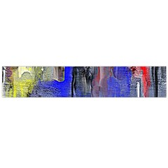 Hazy City Abstract Design Flano Scarf (Large)
