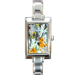 Abstract Country Garden Rectangle Italian Charm Watches
