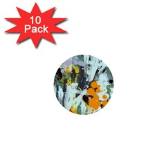 Abstract Country Garden 1  Mini Buttons (10 pack)