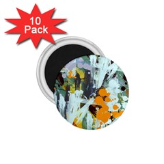 Abstract Country Garden 1 75  Magnets (10 Pack)