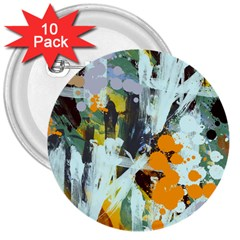 Abstract Country Garden 3  Buttons (10 pack)