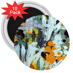 Abstract Country Garden 3  Magnets (10 Pack)